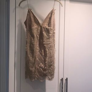 """NBD Lace """"Wino Dress"""" in Champagne Color"""